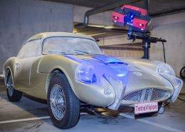 3D scanning process of a classic Sabra car