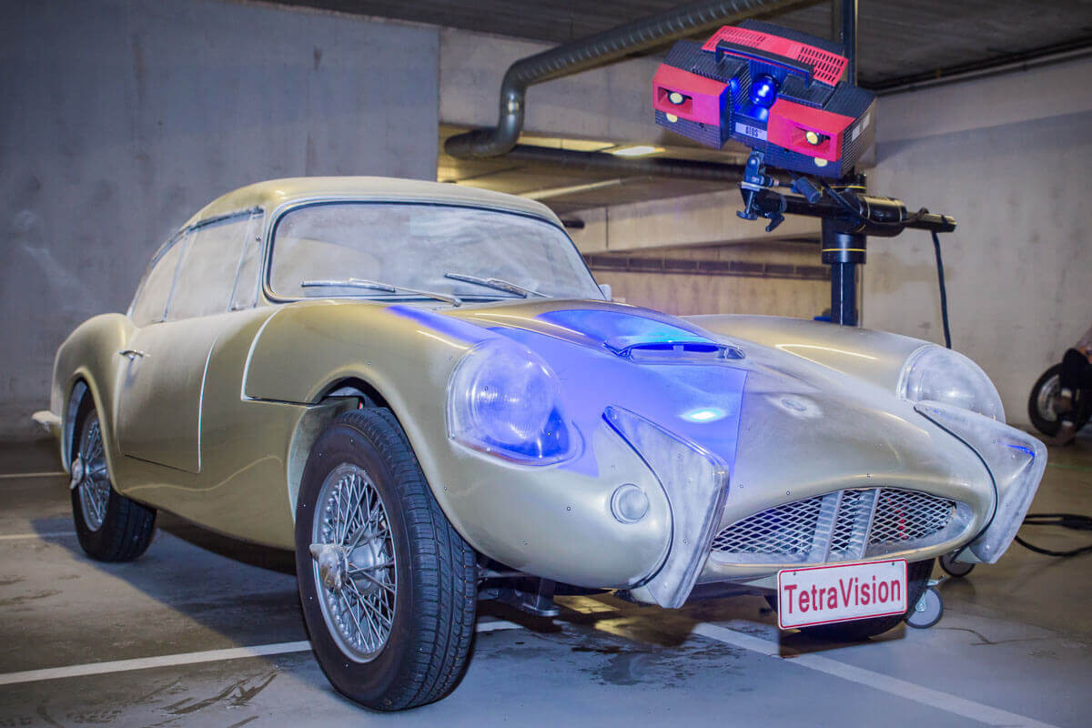 3D scanning process of a classic Sabra car