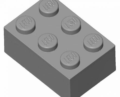 3D scan (STL) of a lego brick