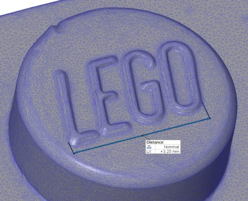 3D scan (STL) of a lego brick