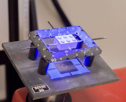 GOM ATOS III Triplescan scanning of a lego brick