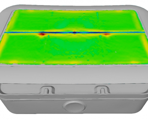 Quality Inspection - surface defects map in GOM Inspect